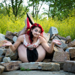 Scarlet Checkers by Rebecca Streng Photography